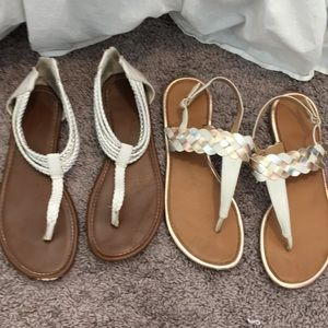 2 pairs of cute sandals